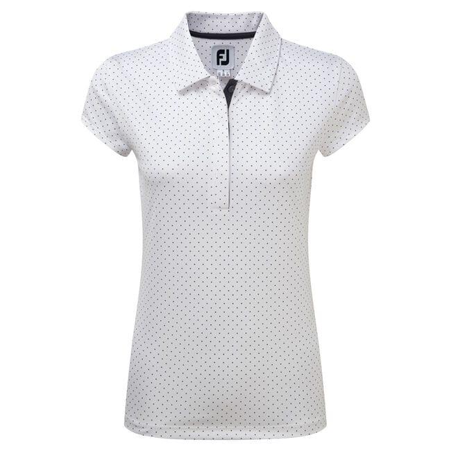Women's Printed Dot Smooth Pique Cap Sleeve-Previous Season Style