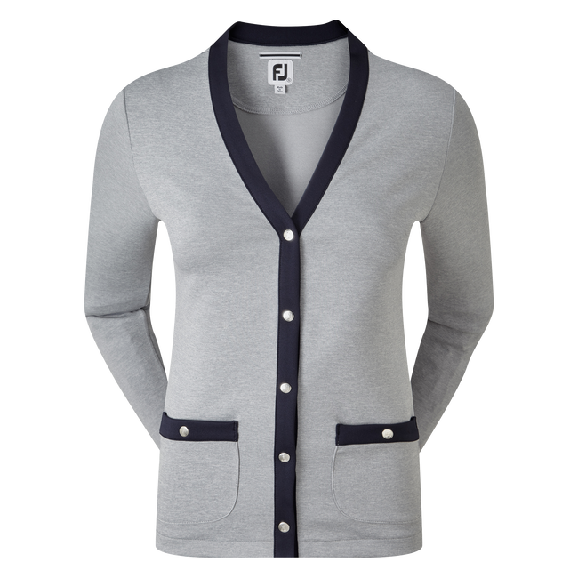 Women's Jersey Fleece Cardigan with Snap Placket
