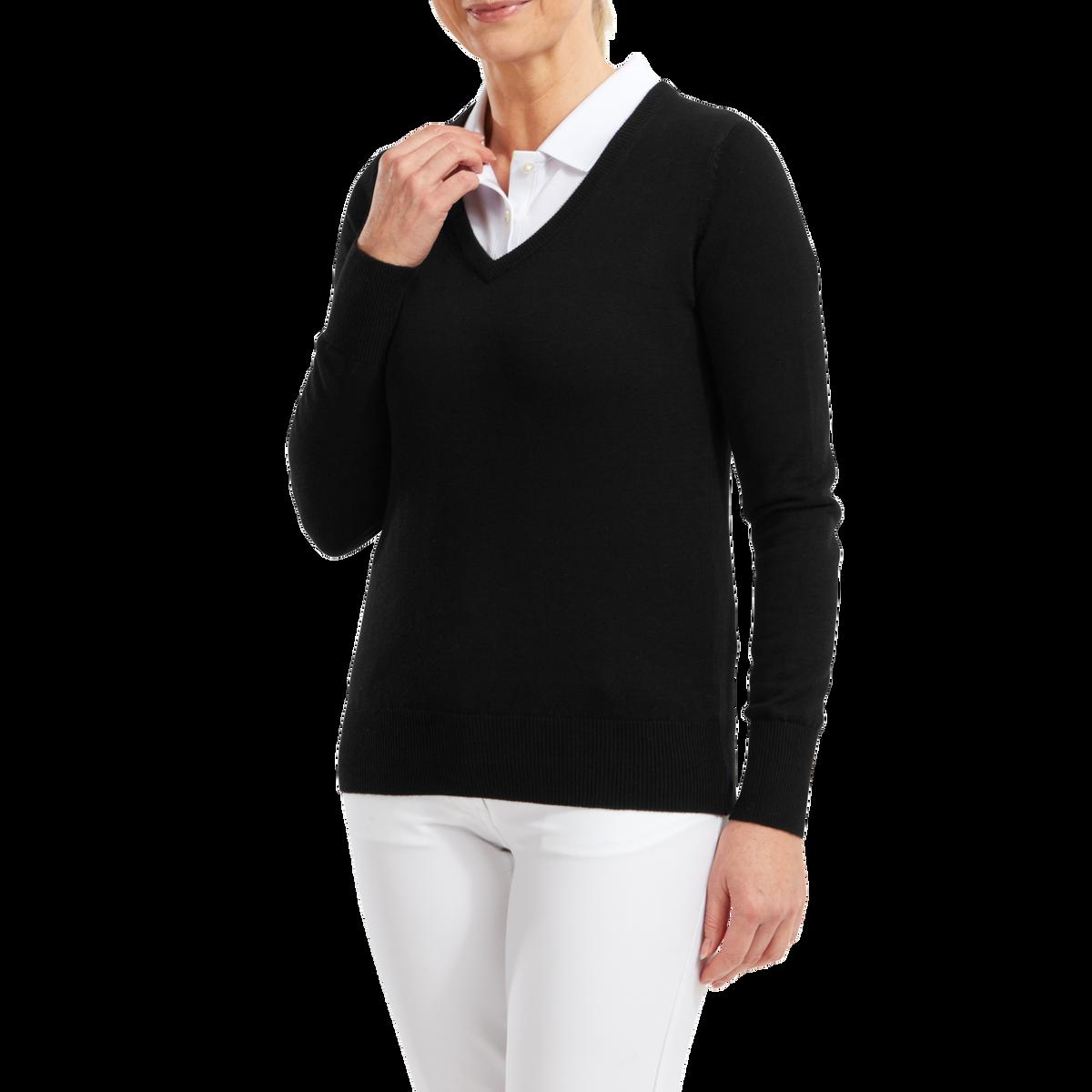 Wool Blend V-Neck Pullover Women