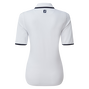 Women's Zip Placket Pique 1/2 Sleeve Shirt
