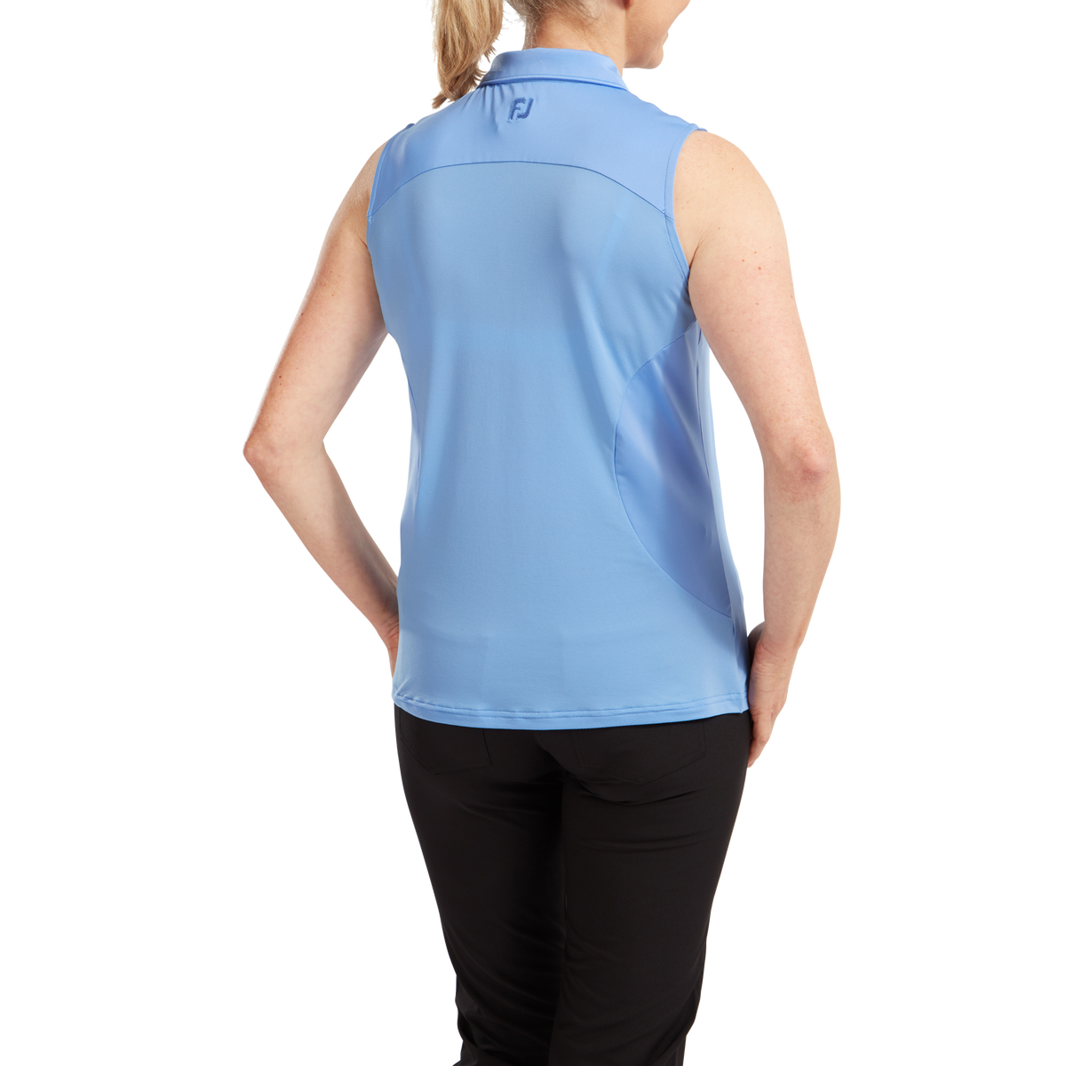 Women's Mesh Back Solid Sleeveless Lisle