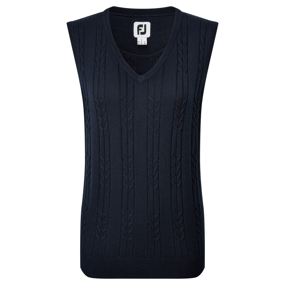 Women's Wool Blend Cable Knit V-Neck Vest