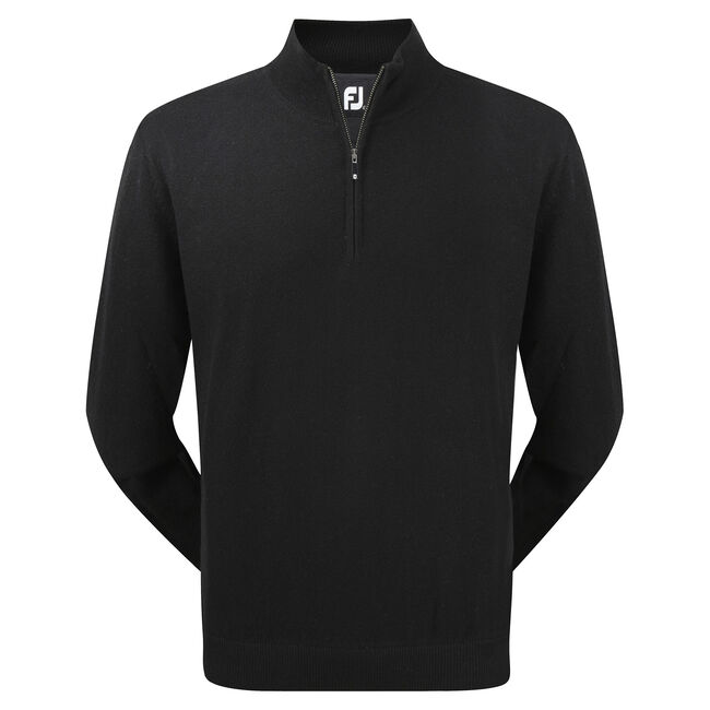 Lambswool Half Zip Pullover-Previous Season Style