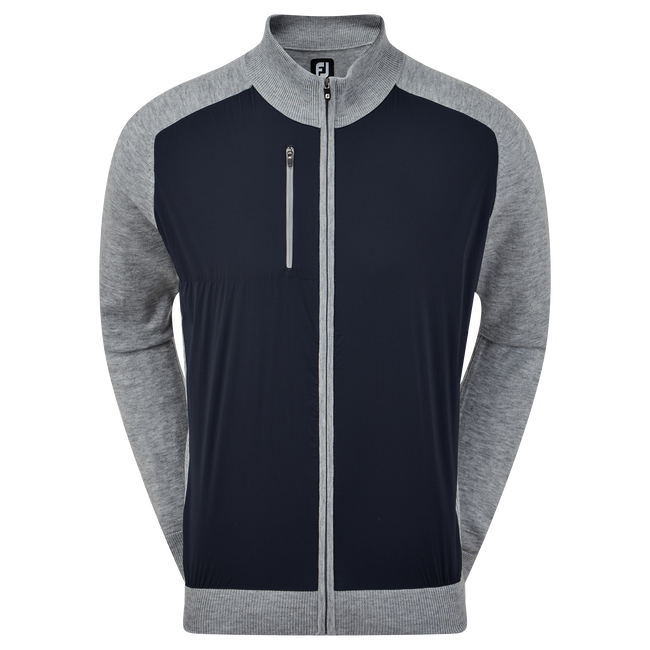 Wool Blend Tech Full-Zip Sweater
