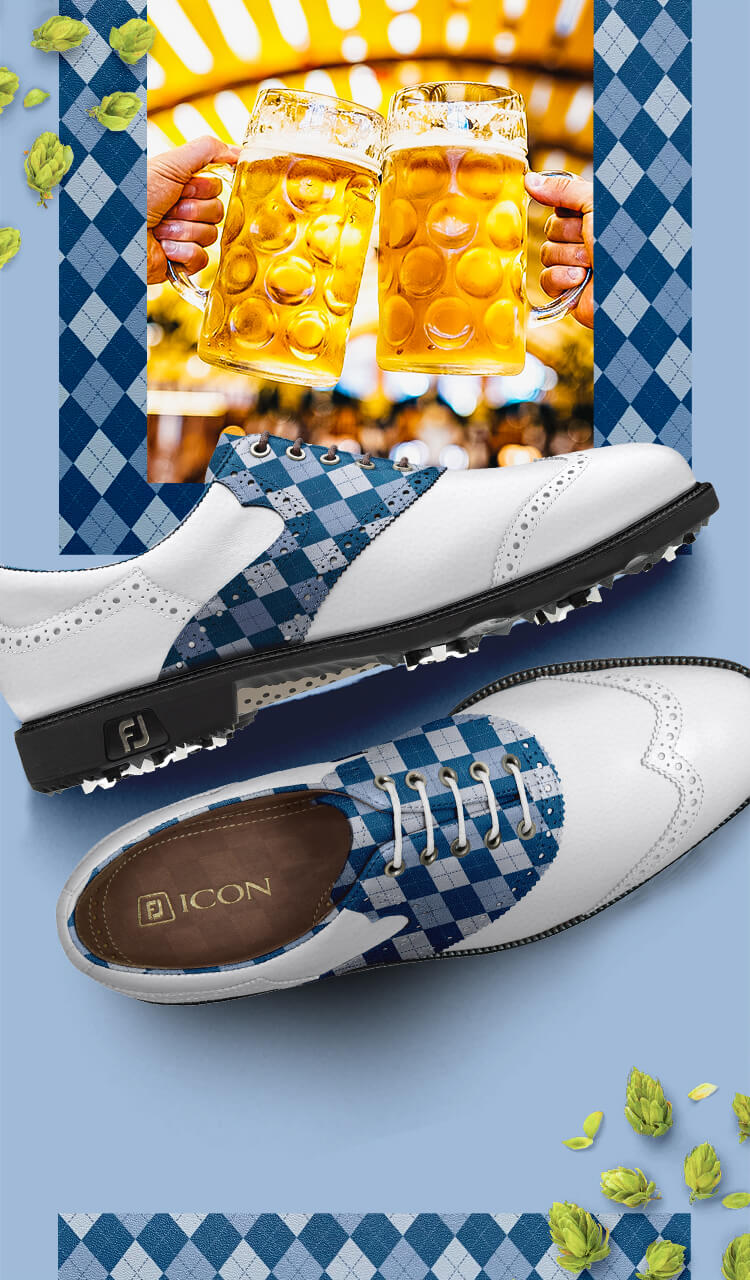 FootJoy Design My Own MyJoys Custom Golf Shoes - Oktoberfest Leather
